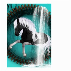 Beautiful Horse With Water Splash  Small Garden Flag (two Sides) by FantasyWorld7