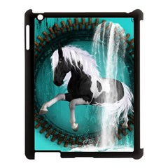 Beautiful Horse With Water Splash  Apple Ipad 3/4 Case (black) by FantasyWorld7