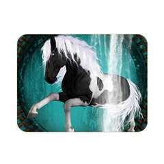 Beautiful Horse With Water Splash  Double Sided Flano Blanket (mini)  by FantasyWorld7