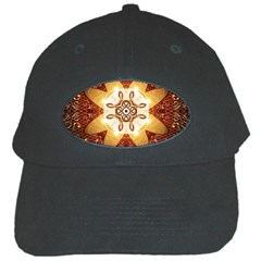 Elegant, Decorative Kaleidoskop In Gold And Red Black Cap by FantasyWorld7