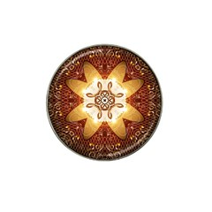 Elegant, Decorative Kaleidoskop In Gold And Red Hat Clip Ball Marker (10 Pack) by FantasyWorld7