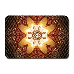 Elegant, Decorative Kaleidoskop In Gold And Red Plate Mats by FantasyWorld7