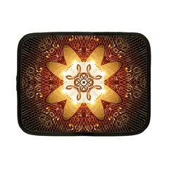Elegant, Decorative Kaleidoskop In Gold And Red Netbook Case (small)  by FantasyWorld7