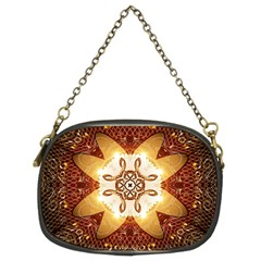 Elegant, Decorative Kaleidoskop In Gold And Red Chain Purses (two Sides)  by FantasyWorld7