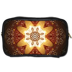 Elegant, Decorative Kaleidoskop In Gold And Red Toiletries Bags 2 Side by FantasyWorld7