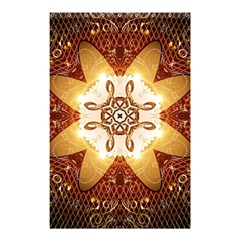 Elegant, Decorative Kaleidoskop In Gold And Red Shower Curtain 48  X 72  (small)  by FantasyWorld7