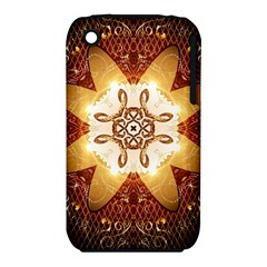 Elegant, Decorative Kaleidoskop In Gold And Red Apple Iphone 3g/3gs Hardshell Case (pc+silicone) by FantasyWorld7