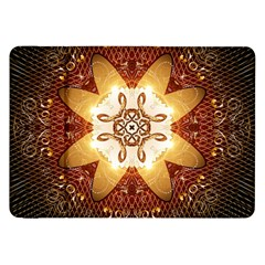 Elegant, Decorative Kaleidoskop In Gold And Red Samsung Galaxy Tab 8 9  P7300 Flip Case by FantasyWorld7