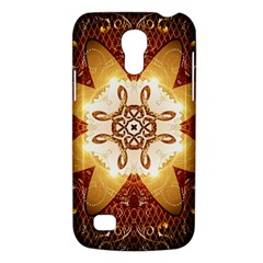 Elegant, Decorative Kaleidoskop In Gold And Red Galaxy S4 Mini by FantasyWorld7