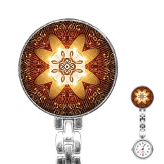Elegant, Decorative Kaleidoskop In Gold And Red Stainless Steel Nurses Watches by FantasyWorld7