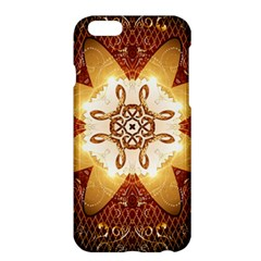 Elegant, Decorative Kaleidoskop In Gold And Red Apple Iphone 6/6s Plus Hardshell Case by FantasyWorld7