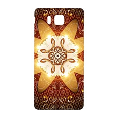 Elegant, Decorative Kaleidoskop In Gold And Red Samsung Galaxy Alpha Hardshell Back Case by FantasyWorld7