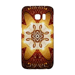 Elegant, Decorative Kaleidoskop In Gold And Red Galaxy S6 Edge by FantasyWorld7