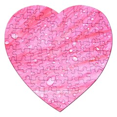 Pink Jigsaw Puzzle (heart) by timelessartoncanvas