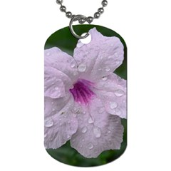Pink Purple Flowers Dog Tag (two Sides) by timelessartoncanvas