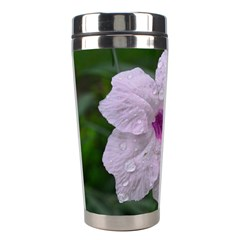 Pink Purple Flowers Stainless Steel Travel Tumblers by timelessartoncanvas