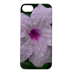 Pink Purple Flowers Apple Iphone 5s Hardshell Case by timelessartoncanvas