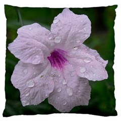 Pink Purple Flowers Large Flano Cushion Cases (one Side)  by timelessartoncanvas