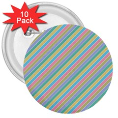 Stripes 2015 0401 3  Buttons (10 Pack)