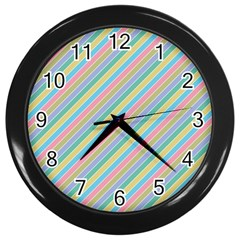 Stripes 2015 0401 Wall Clocks (black) by JAMFoto