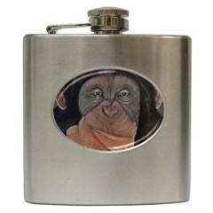Menschen   Interesting Species! Hip Flask (6 Oz) by timelessartoncanvas