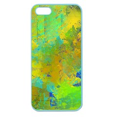 Abstract In Blue, Green, Copper, And Gold Apple Seamless Iphone 5 Case (color) by digitaldivadesigns