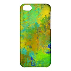 Abstract In Blue, Green, Copper, And Gold Apple Iphone 5c Hardshell Case by digitaldivadesigns