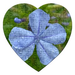 Blue Water Droplets Jigsaw Puzzle (heart) by timelessartoncanvas