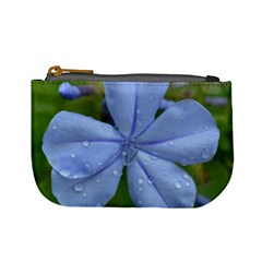 Blue Water Droplets Mini Coin Purses by timelessartoncanvas