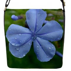 Blue Water Droplets Flap Messenger Bag (s) by timelessartoncanvas