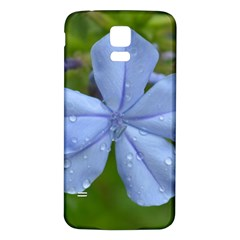 Blue Water Droplets Samsung Galaxy S5 Back Case (white) by timelessartoncanvas