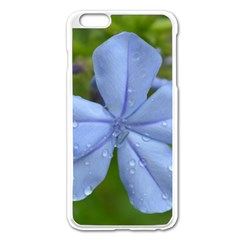 Blue Water Droplets Apple Iphone 6 Plus Enamel White Case by timelessartoncanvas