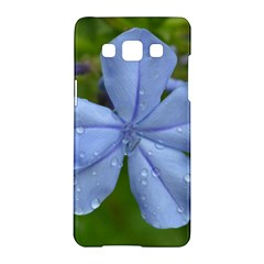 Blue Water Droplets Samsung Galaxy A5 Hardshell Case  by timelessartoncanvas