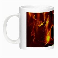 Fire And Flames In The Universe Night Luminous Mugs by FantasyWorld7