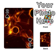 Fire And Flames In The Universe Playing Cards 54 Designs  by FantasyWorld7