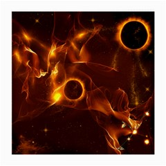 Fire And Flames In The Universe Medium Glasses Cloth (2 Side) by FantasyWorld7