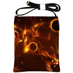 Fire And Flames In The Universe Shoulder Sling Bags by FantasyWorld7