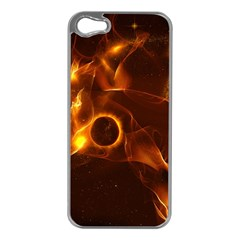 Fire And Flames In The Universe Apple Iphone 5 Case (silver) by FantasyWorld7