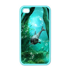 Wonderful Dolphin Apple Iphone 4 Case (color) by FantasyWorld7