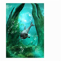 Wonderful Dolphin Small Garden Flag (two Sides) by FantasyWorld7