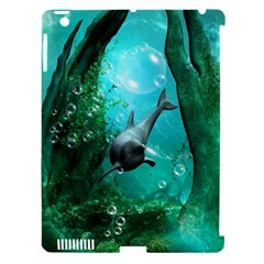 Wonderful Dolphin Apple Ipad 3/4 Hardshell Case (compatible With Smart Cover) by FantasyWorld7