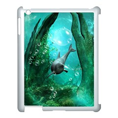 Wonderful Dolphin Apple Ipad 3/4 Case (white) by FantasyWorld7