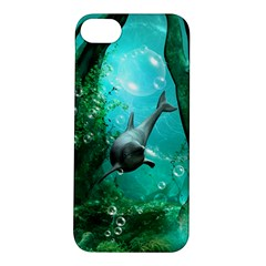 Wonderful Dolphin Apple Iphone 5s Hardshell Case by FantasyWorld7