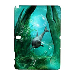 Wonderful Dolphin Samsung Galaxy Note 10 1 (p600) Hardshell Case by FantasyWorld7