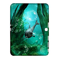 Wonderful Dolphin Samsung Galaxy Tab 4 (10 1 ) Hardshell Case  by FantasyWorld7