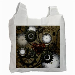 Steampunk With Heart Recycle Bag (one Side) by FantasyWorld7