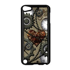 Steampunk With Heart Apple Ipod Touch 5 Case (black) by FantasyWorld7