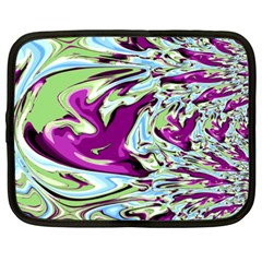 Purple, Green, And Blue Abstract Netbook Case (xxl)  by digitaldivadesigns