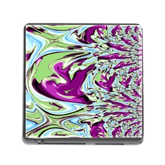Purple, Green, And Blue Abstract Memory Card Reader (square) by digitaldivadesigns
