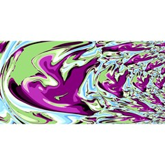 Purple, Green, And Blue Abstract You Are Invited 3d Greeting Card (8x4)